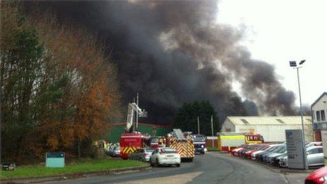 Fire at Llandow