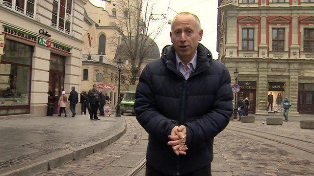 Steve Rosenberg in the Ukraine