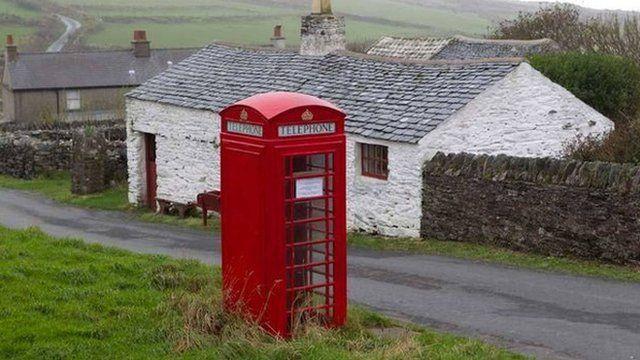 Red phone box courtesy of Manx National Heritage