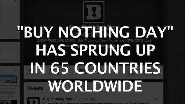 Anti Black Friday message abound on social media websites