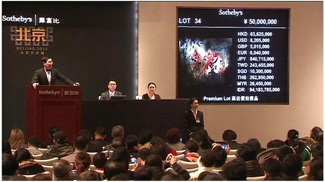 Zao Wou-Ki's 'Abstraction' being auctioned in Beijing