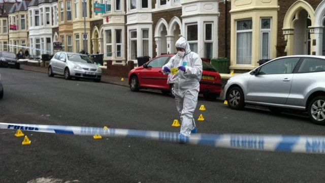 Forensic expert in Cathays on Friday