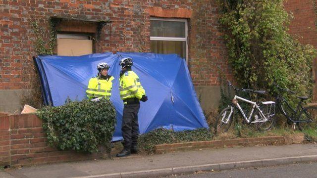 Police outside Cowley Road house