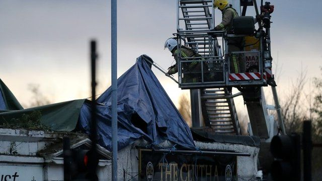 Rescue work at the Clutha Vaults