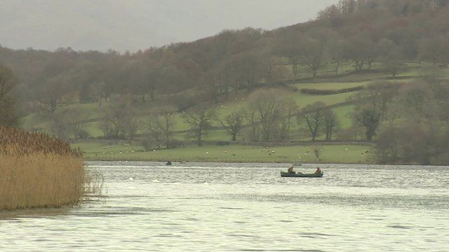 A boat on Esthwaite Water