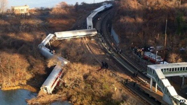 New York train crash: Metro-North derailment in Bronx
