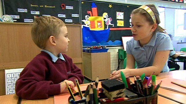 Children at a school in Peterborough