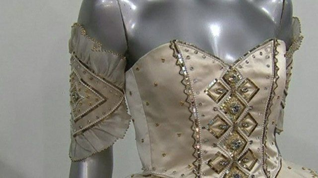 Diana 'fairytale' dress on display