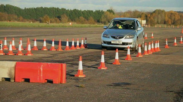 The device being demonstrated in Worcestershire