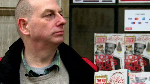 Big Issue seller Simon Mott