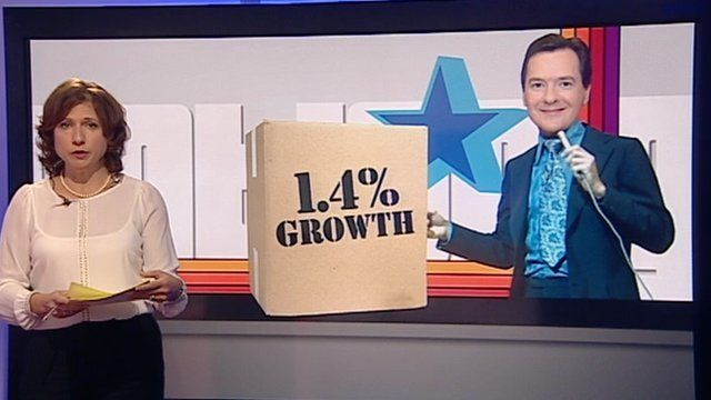 Jo Coburn with George Osborne graphic