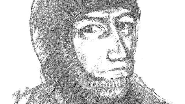 Artist's impression of armed robber