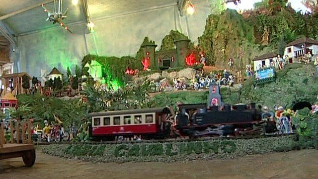 A scene from the moving nativity in Portugal