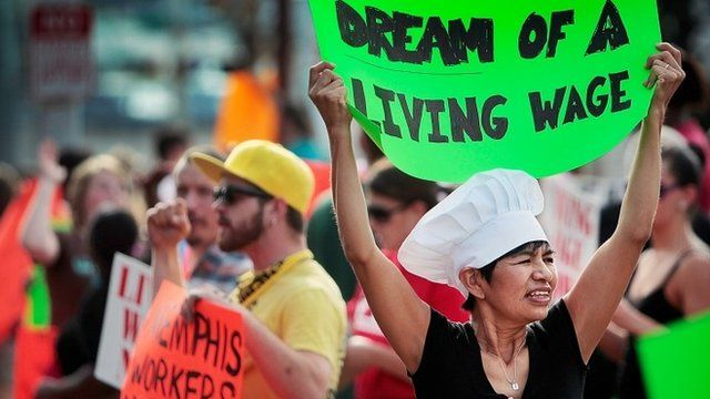 Fast-food worker protest