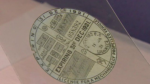 A tax disc from 1921