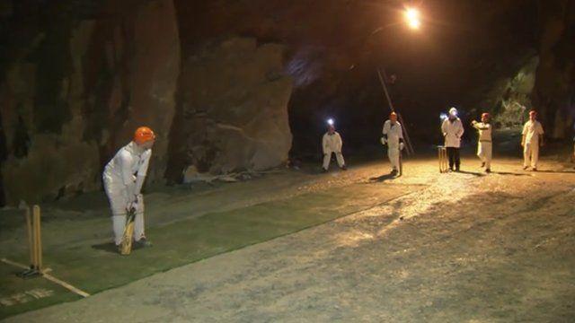 The underground cricket match