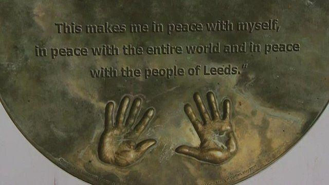 Hand prints of Nelson Mandela