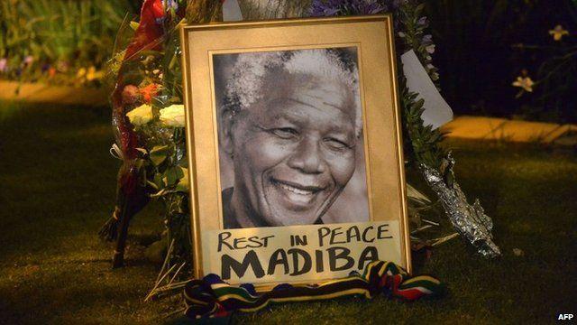 Mandela tribute in Johannesburg