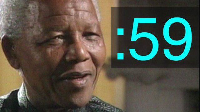 Nelson Mandela and 59-second symbol