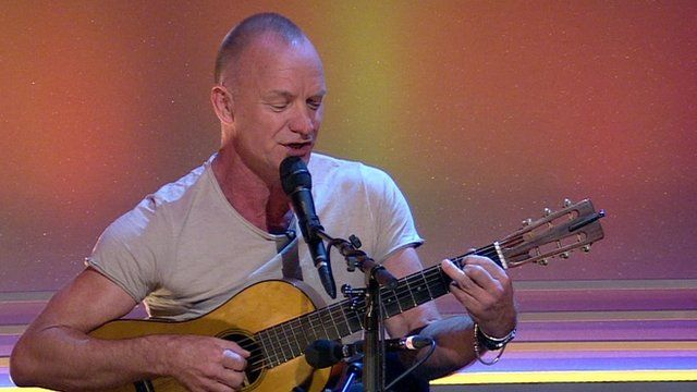 Sting performs his new song, 'The Last Ship' on the Andrew Marr Show