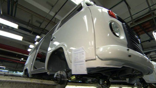 Volkswagen Kombi on the production line
