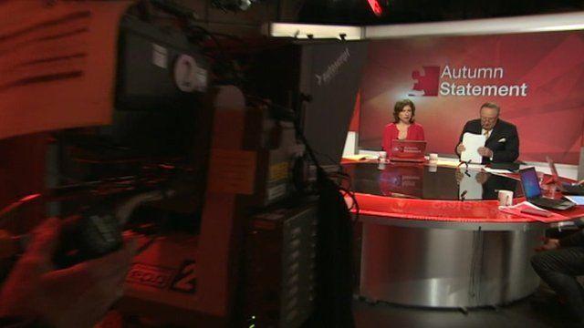 BBC Autumn Statement programme studio scene