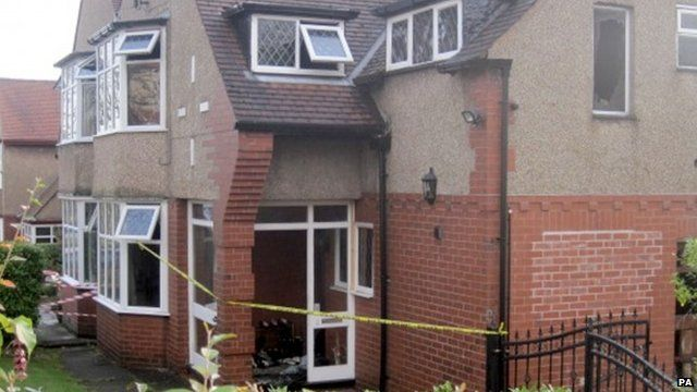 Scene of house fire in Bolton