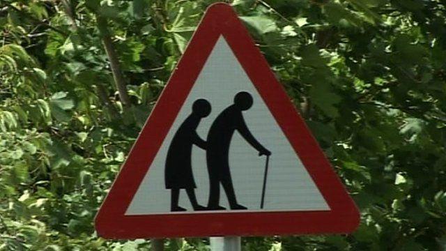 'Elderly people crossing' sign