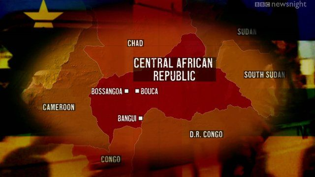Central African Republic map