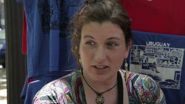 A Uruguayan woman speaking on the legal marijuana trade