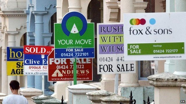 Estate agents for sale signs in London