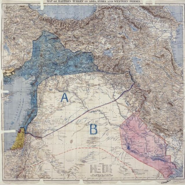 Why border lines drawn with a ruler in WW1 still rock the Middle East