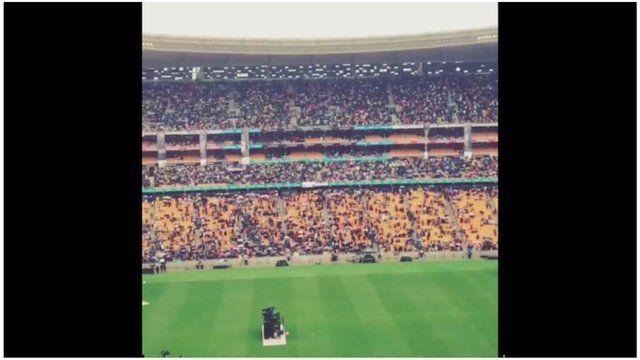 Crowds chanting in FNB Stadium in Johannesburg