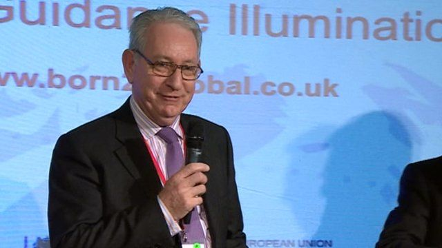 John King, of Linear Guidance Illumination, winner of the 2013 Born Global Business competition