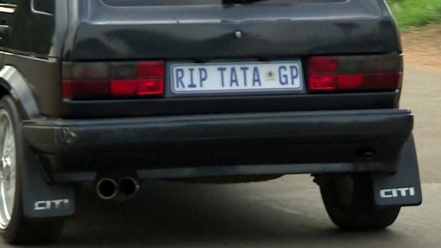 Car with 'RIP TATA' numberplate
