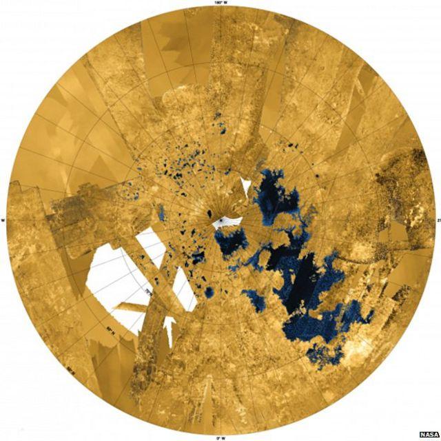 Titan moon's colossal methane seas