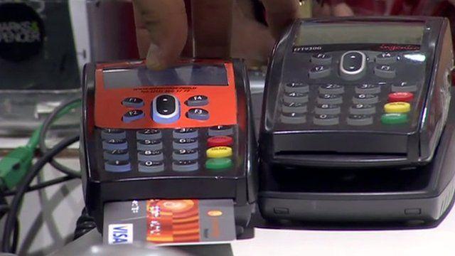 card in machine