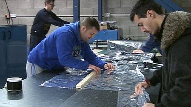 Workers at Surviva in Swansea