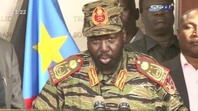 South Sudan President Salva Kiir (16 Dec 2013)