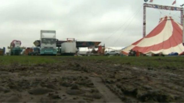 The site of the Winter Wonderland event in Milton Keynes