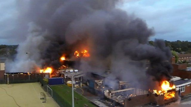 Fire at St Mary's College Leyland