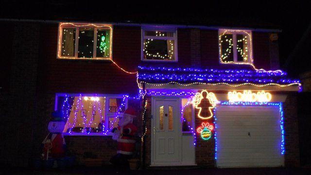 The Hempell's Christmas lights
