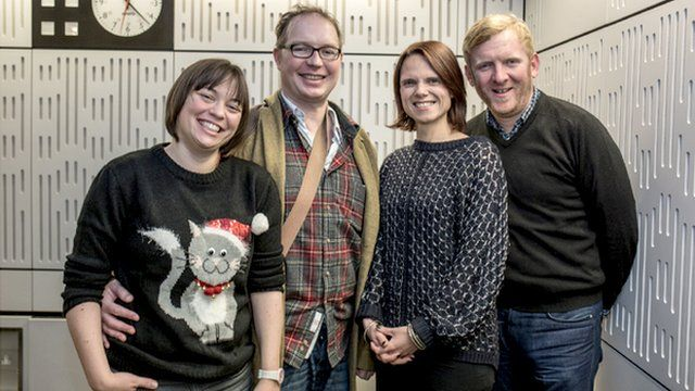 Guests Jennie Williams and Sam Van Rood with presenters Rob and Kate