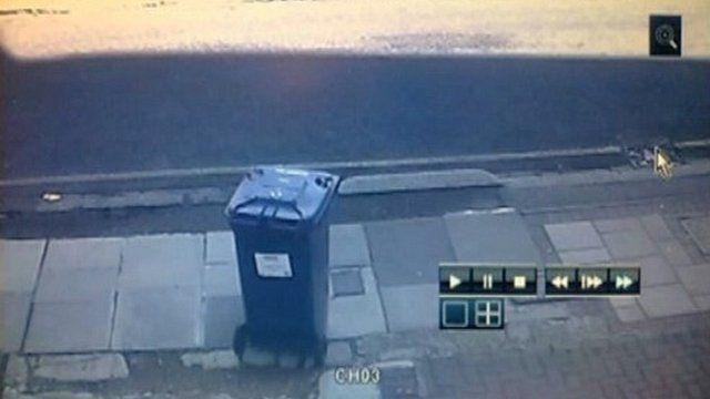 Wheelie bin on shared driveway