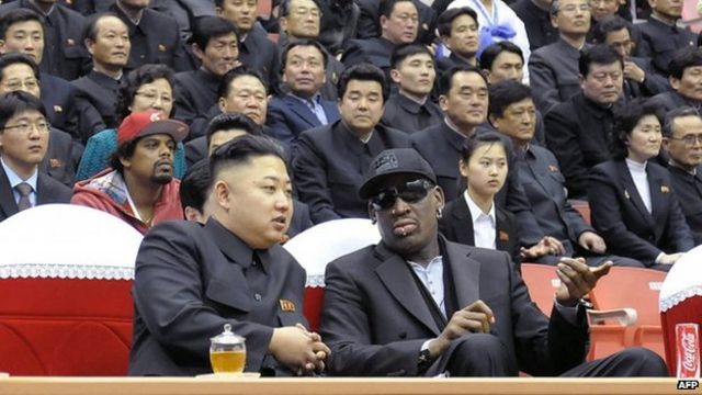 Dennis Rodman leads team to North Korea for match