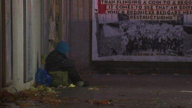 Homeless person in Bristol