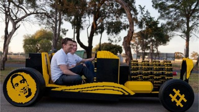 Crowd-funded Lego car powered by air