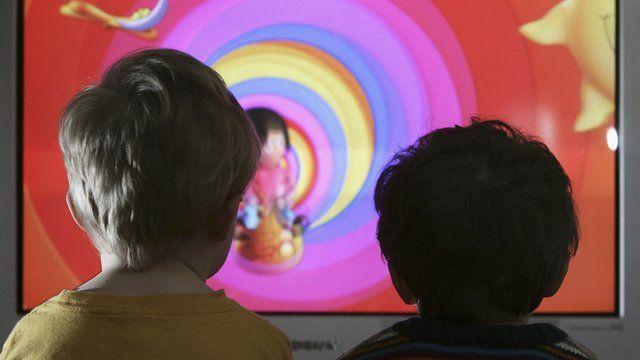 Children watch TV