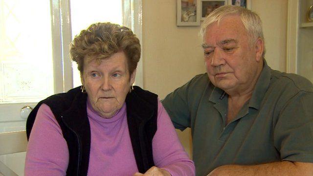 Nicola's parents Marilyn and John Payne