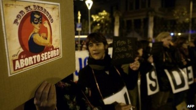 Spain government backs tougher abortion law